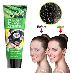 MEINAIER Blackhead Remover MaskBlackhead Purifying Peel Off MaskActivated Charcoal Blackhead Exfoliators Remover Clear Mask Black Mud Pore Removal Strip Mask For Face Nose Acne Treatment