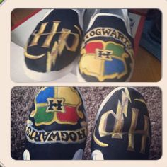Hand painted Harry Potter shoes.