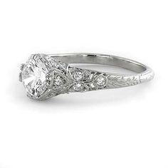 This setting with my grandmothers diamond? Leigh Jay Nacht Inc. - Replica Art Deco Engagement Setting - L1140