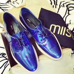 Anna with the Miista Zoe Oxford in Iridescent Blue || Get the shoes: http://www.nastygal.com/shoes/miista-zoe-oxford--iridescent-blue?utm_source=pinterest&utm_medium=smm&utm_term=ngdib&utm_content=omg_shoes&utm_campaign=pinterest_nastygal