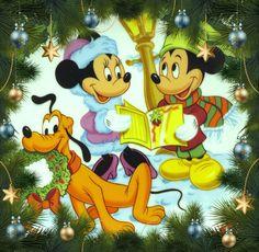 Christmas - Disney - Mickey & Minnie Mouse & Pluto