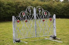 Gate by Jenny Pickford at The Sculpture Park #Art #Sculpture #Steel #Glass