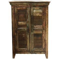 HOME TRENDS AND DESIGN RECLAIMED SHUTTER CABINET Gallery Furniture