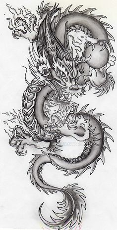 super ideas for tattoo dragon chinese tatoo Kunst Tattoos, Bild Tattoos, Tattoo Drawings, Body Art Tattoos, Sleeve Tattoos, Tatoos, Dragon Tattoo With Skull, Dragon Tattoo For Women, Japanese Dragon Tattoos