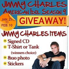 American Idol's (Season 9) Jimmy Charles - win an autographed Cd and more with FanJam hosted by Mom Blog Society