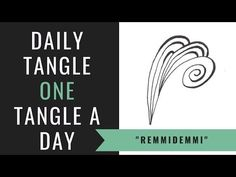 (4) Daily Tangle - Remmidemmi |How to draw...| - YouTube