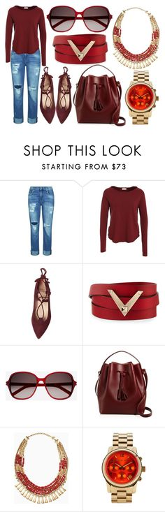 """Untitled"" by yellevirgo ❤ liked on Polyvore featuring 7 For All Mankind, American Vintage, Valentino, Yves Saint Laurent, Céline Lefébure, Stella & Dot, Michael Kors and statementnecklaces"