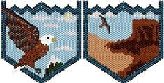 eagle beadwork patterns | Bald Eagle Pouch id 4330