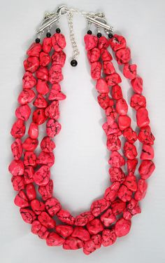 Coral enhanced turquoise necklace  Etsy  $45.00