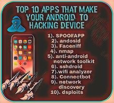 Here is list of top 10 android hacking apps Top 10 Apps, Android Hacks, Cyber, Wifi, Tech, Make It Yourself, How To Make, Technology