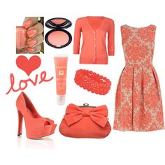 coral love!, created by jessieroth on Polyvore
