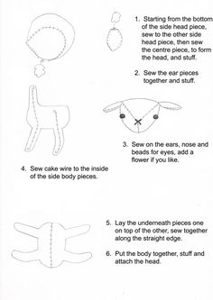 This is a Lamb toy (Blythe pet) tutorial, the pattern is here ~ http://www.puchicollective.com/sewing-patterns/pet-lamb-2/