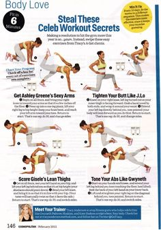 Tracy Anderson - Celeb workout