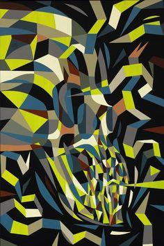 Tim Biskup - Doom Loop #4 Cel Vinyl Acrylic on Wooden Panel 36 x 24 inches