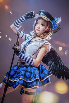 Anime Costume LoveLive School Idol Tomodachi Watanabe You Punk Rock Cosplay Anime Cosplay Girls, Kawaii Cosplay, Cute Cosplay, Cosplay Outfits, Best Cosplay, Cute Kawaii Girl, Kawaii Anime Girl, Anime Costumes, Cosplay Costumes