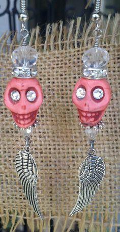 SKULL EARRING. Sugar Skull Earring. by SecretStashBoutique on Etsy, $11.99