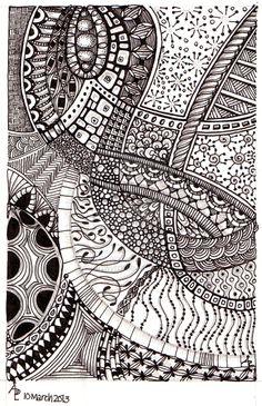 #MarchTheta1 #Artwyrd on deviantART #ZentangleDesign