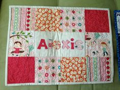 I want to make some of these personalized quilted placemats for the grandies!