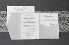 Keep your wedding invitation classic, elegant, modern and drop dead gorgeous. This invitation is perfect for a formal, traditional wedding...