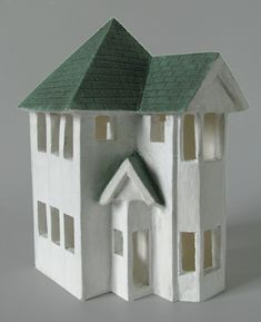 Porcelain Houses (x-posted from Clay) - WetCanvas (Possible inspiration for Putz house?)