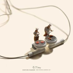 ". 6.11 thu ""Iron Chef"" . 制限時間はアルバム1枚聴き終えるまで。 . . #料理の鉄人 #ironchef #イヤホン #earbuds"