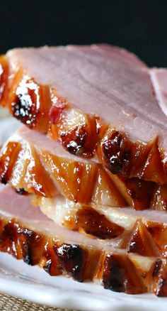 Pineapple Bourbon Butter Glazed Ham