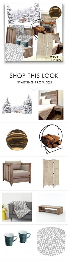 """""""Winter Cabin"""" by fallforit ❤ liked on Polyvore featuring interior, interiors, interior design, home, home decor, interior decorating, Graypants, Panacea, I Love Living and Wite"""