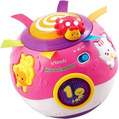 VTech -  Move & Crawl Ball, Pink-Audrey