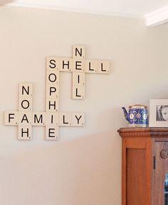 Family Names Wall Art - Cute Idea!