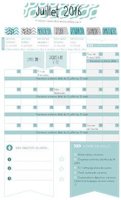 ✿ Un mois de juin organisé {calendrier à imprimer}