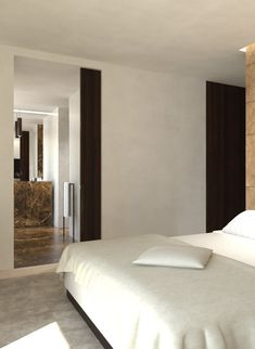 Guest bedroom with ensuite bathroom. Algarve House _ by Architect Dieter Vander Velpen