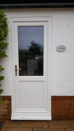 Traditional Half Glazed 2xg Upvc Back Door In White Doors Extensions