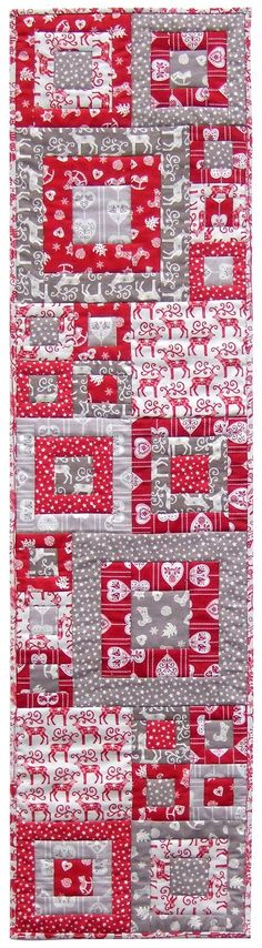 = free pattern = Quilt Inspiration:  Scandi Squares Christmas table runner
