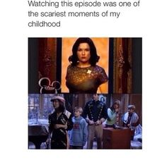 "YES! I used to have to cover my eyes at the part where Esteban got ""possessed"""