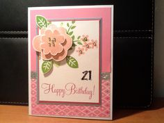 CTMH birthday card using November's SOTM made by Anne O'Brien.