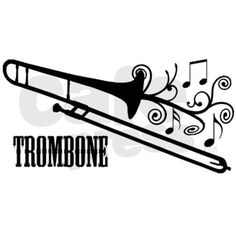 Shop Trombone Vector Design Postcard created by shakeoutfittersmusic. Personalize it with photos & text or purchase as is! Partituras Trombone, Marching Band Trombone, Music Silhouette, Music Tattoo Designs, Music Drawings, Music Gifts, Swirl Design, Music Notes, Comics