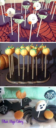 These stands make it easy to create fun Halloween desserts displays with cake pops, cookies, and other sweets on sticks!