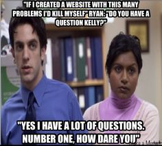 The office Kelly and Ryan hahahaha