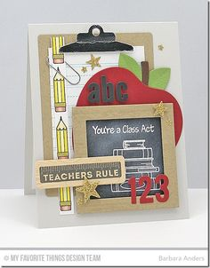 Class Act, Document It - School Days, Wood Plank Background, Writing Tablet Background, Blueprints 13 Die-namics, Office Supplies Die-namics, Little Numbers Die-namics, Little Lowercase Letters Die-namics, Red Delicious Die-namics, Square Frames Die-namics, Scattered Stars Die-namics, Sun, Moon, & Stars Die-namics - Barbara Anders  #mftstamps