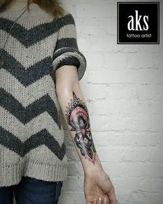 Закончили коррекцию @mersia_sea - ты герой 7 часов жести!  Спасибо большое за доверие и терпение)) ---- Закінчили корекцію @mersia_sea - ти герой 7 годин жесті! Дякую за довіру і терпіння)) #tattoo #татукиев #тату  @intro_ink_tattoo