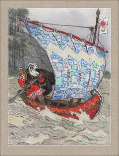 Karelian-Finnish epic Kalevala. Illustrator Nikolai Kochergin. Russian Mythology, Norse Mythology, Fairytale Art, High Fantasy, Fantasy Illustration, Illustrations, Folk Art, Fairy Tales, Artist