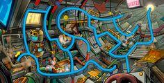 Fix it! (maze book for kids) on Behance