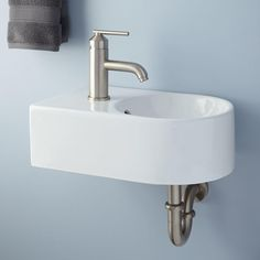 100+ Small Bathroom Wall Mount Sink - Best Interior Wall Paint Check more at http://www.freshtalknetwork.com/small-bathroom-wall-mount-sink/
