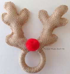 no sew deer antlers napkin ring, pets animals