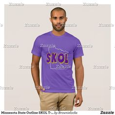 Minnesota State Outline SKOL T-shirt