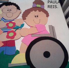Paula Reis.: Painel da inclusão- Molde Menina Cadeirante