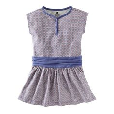 Beijing Dot Print Henley Dress: Love the piping and the scrunched waistband.  Adorable with white leggings!