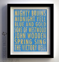 UCLA Bruins Subway Scroll Art Print. $25.00, via Etsy.
