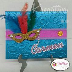 Invitación para XV años del tema de Carnaval.
