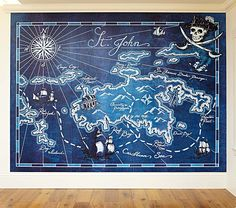 Pirate Map Mural